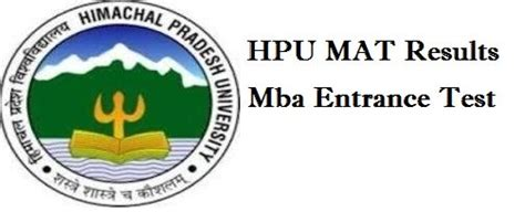Hpu Icdeol Mba Admission by Hpu Mat Result