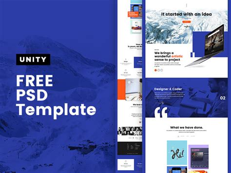 unity personal portfolio template mockuplove