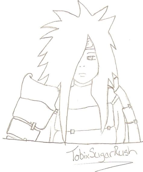 Madara Uchiha No Color By Tobixsugarrush On Deviantart