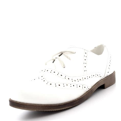 womens brogue wing cap work vintage formal designer office
