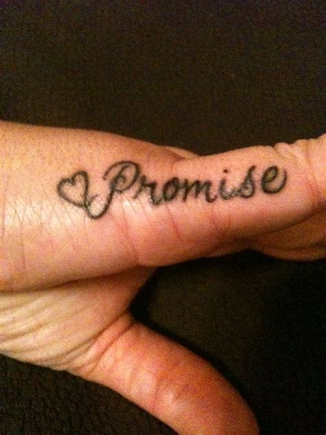 promise tattoo my promise for my we always do