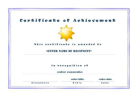 certificates of achievement free templates 30 acievement certificate templates certificate templates