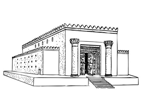 solomon temple coloring page free printable coloring pages