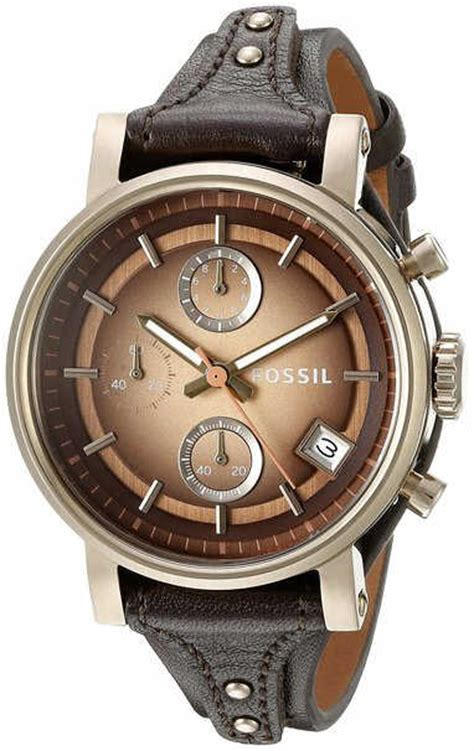 Fossil Boyfriend Brown S Fossil Boyfriend Brown Chronograph Es3907