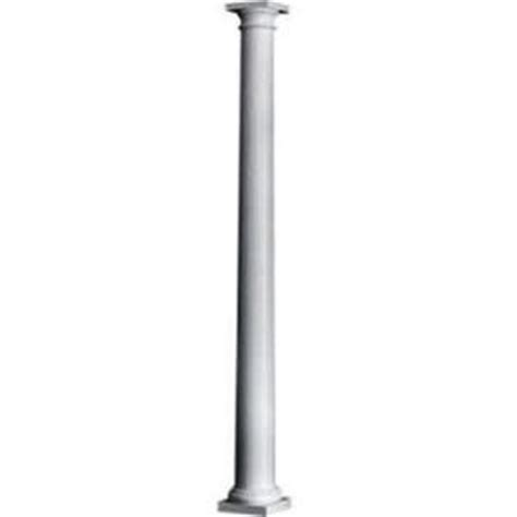 decorative columns home depot hb g 8 in x 8 ft permacast column 5712 0808 the home depot