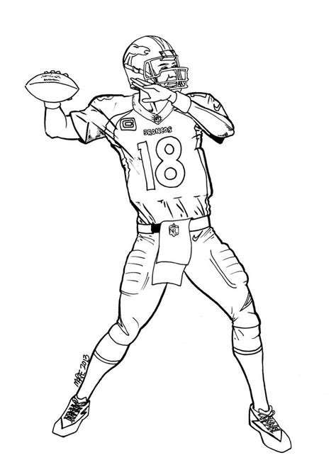 nfl coloring pages broncos denver broncos coloring pages coloring home