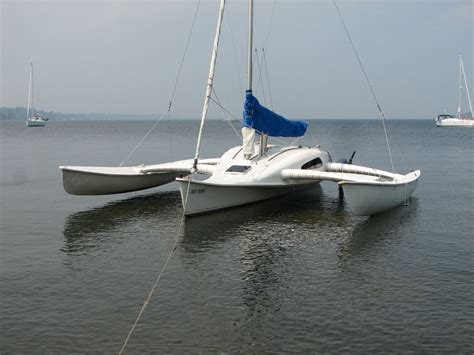 outriggers for small boats a newick somersault 26 or outrigger 26 small trimarans