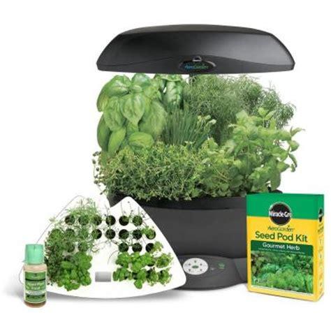indoor garden kit miracle gro aerogarden 6 indoor garden with gourmet herb