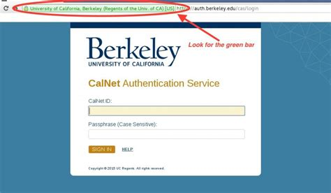 map uc berkeley login home calnet identity and access management