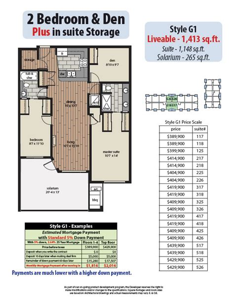 2 bedroom den 2 bedroom den plans yorkson creek