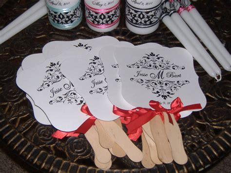 How To Make Paper Fans For Weddings - items similar to wedding fans wedding monogram paper
