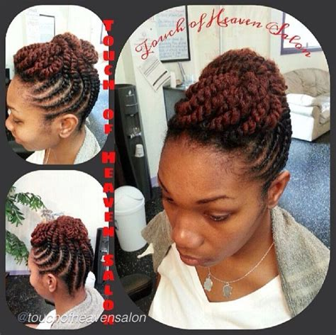 thick carrot hairstyles flat twist updo queens beauty box pinterest flats