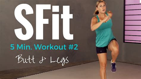 5 min at home lean leg sculpting workout sfit
