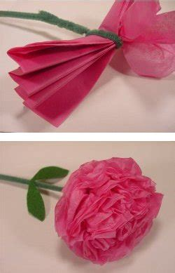 Tissue Paper Flower Craft - paper flower crafts elec intro website