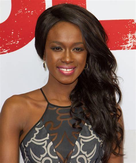 Joelle Kayembe Long Wavy Formal Hairstyle   Dark Brunette