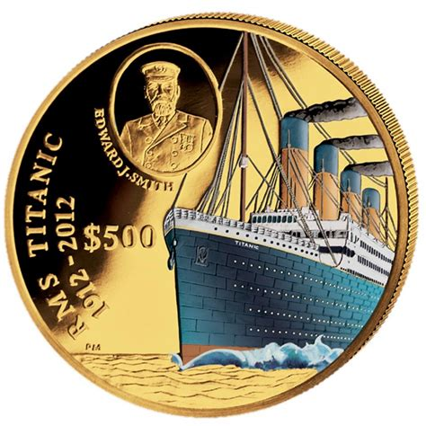 colored coins gold colored coin 100 years titanic 2012 5 oz