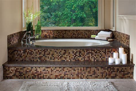 mosaic tile around bathtub tax refunds spark home remodeling projects