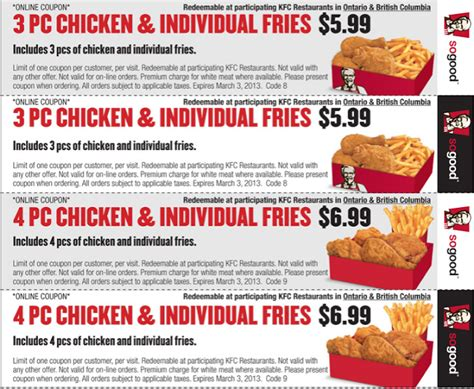 printable kfc coupons kfc coupons deals kfc coupons