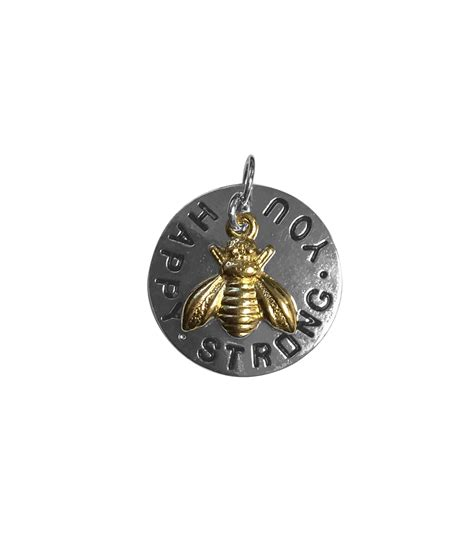 blue moon charms blue moon single charm bee happy silver with gold