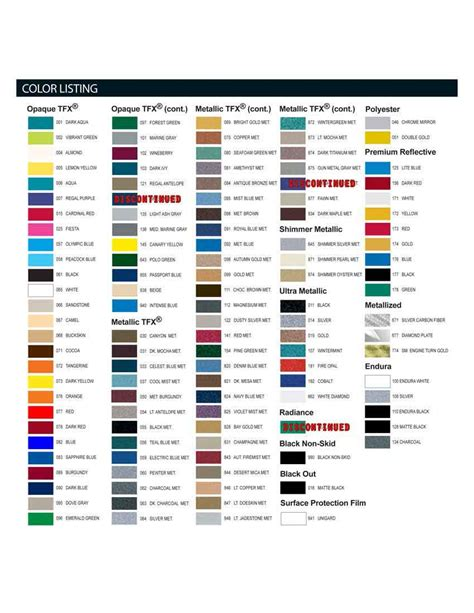 vehicle graphics color options