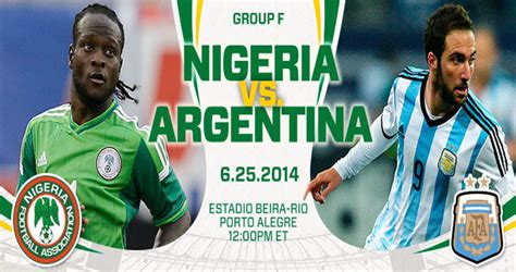 Nigeria Match Nigeria Vs Argentina Fifa World Cup 2014 Match