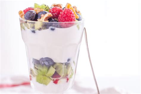 fruit yogurt salad yoghurt and fruit salad recipe genius kitchen