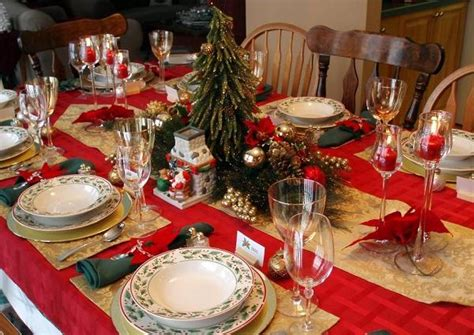 christmas table settings elegant christmas table decorations for 2016 easyday