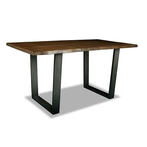 bar height work table astoria live edge counter or bar height table