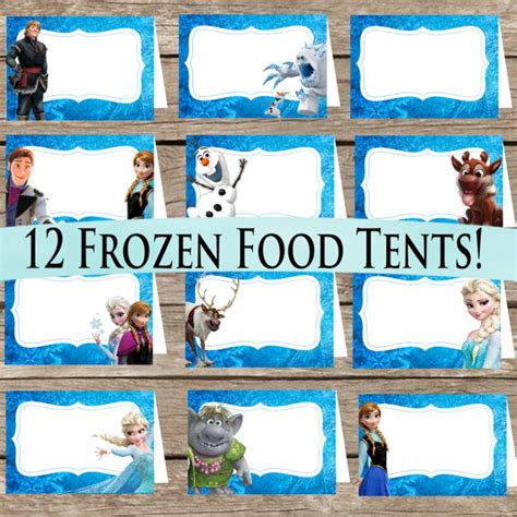 printable frozen food tents 12 frozen food tents digital download printable place