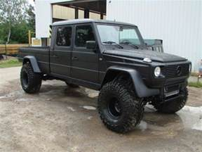 Mercedes G Truck Really Awesome Mercedes G Class Matte Black