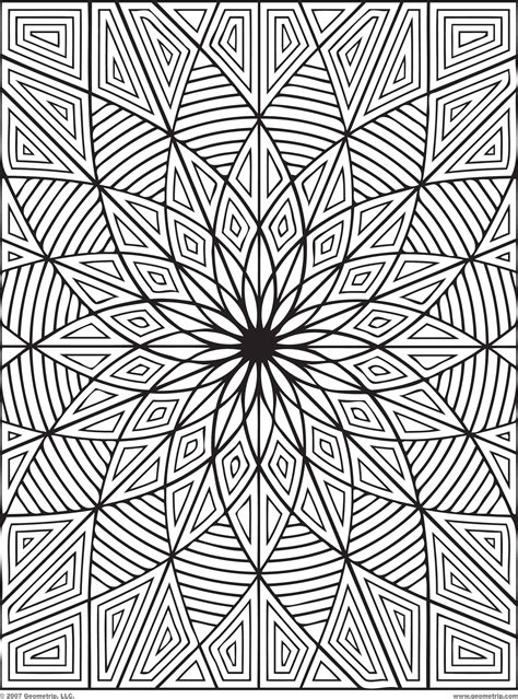 Free Coloring Pages Of Geometric Patterns Coloring Pages Designs