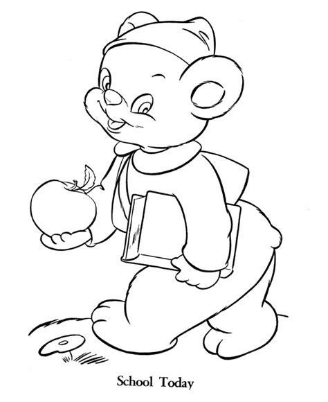buku mewarna beruang lucu bahan sekolah minggu