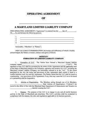 Limited Liability Company Operating Agreement Forms And Templates Fillable Printable Sles New Mexico Llc Operating Agreement Template