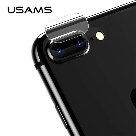 2pcs for iphone 7 8 plus usams lens screen protector tempered glass 9h corning