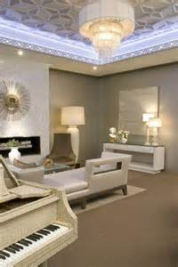 Living Room Ceilings Contemporary Living Room Shines With Geometric Tray Ceilings Hgtv