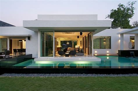 project houses minimalist dinesh mills bungalow with clean lines by
