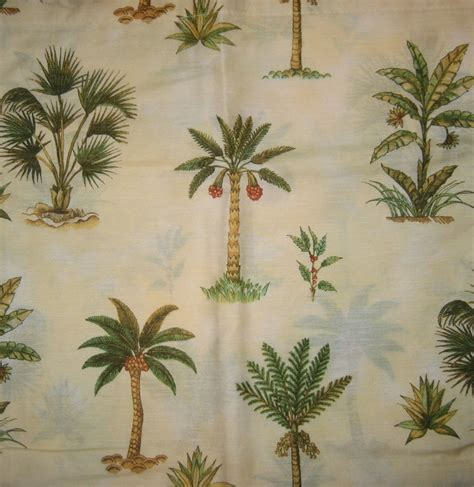 Palm Tree Kitchen Curtains Anns Home Decor And More Tropics Island Palm Trees 36l Tiers Valance Curtain Set