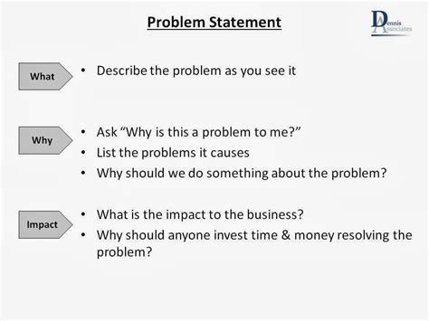 business problem statement template lean team january 2014