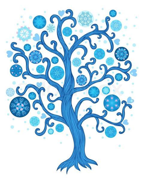 abstract vector winter tree design beautiful abstract vector winter tree with decoration stock vector colourbox