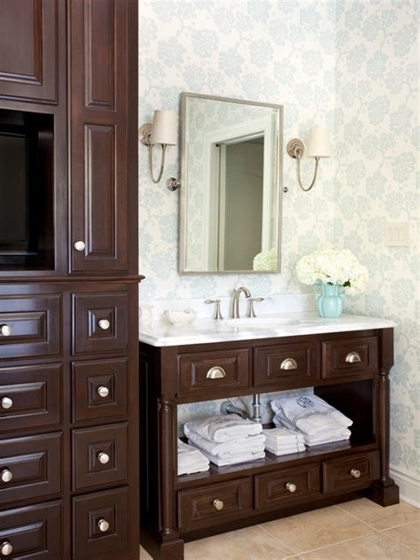 chocolate brown bathroom chocolate brown cabinets traditional bathroom tobi