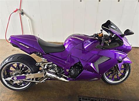 Purple Halo Lights by Custom 2006 Kawasaki Zx14 W 300 Kit