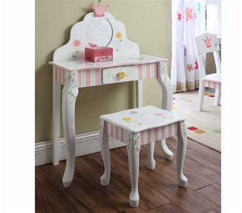 Youth Vanity Table Dreamfurniture Teamson Vanity Table And Stool Princess Frog