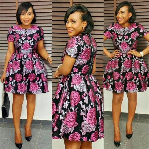 ankara short gown styles aso ebi styles short gown styles dezango fashion zone