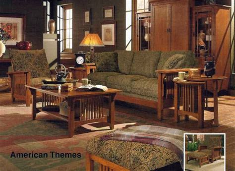mission style living room stunning solid oak living room set american themes