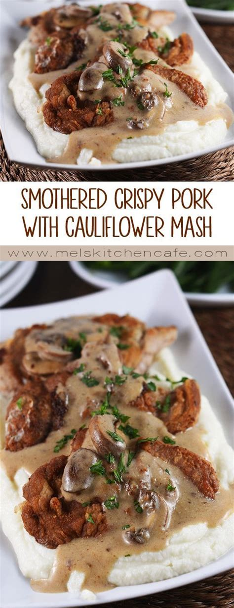 dinner meals to impress smothered crispy pork cutlets with cauliflower mash