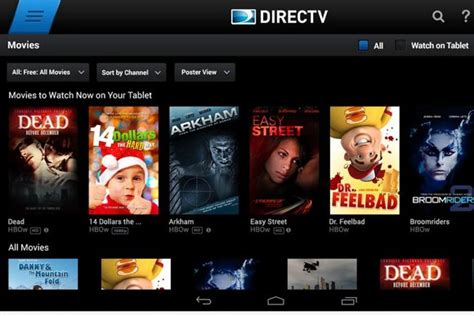 directv app for android tablet directv android app adds 13 new live channels greenbot