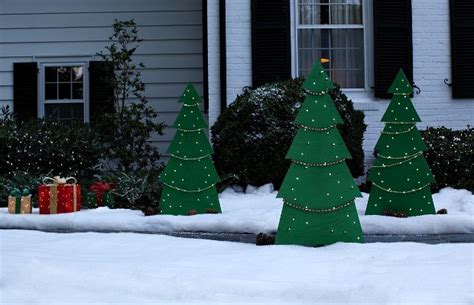 diy lighted lawn decorations diy lighted yard tree hoosier