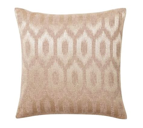 golden tiles embroidered pillow cover pottery barn