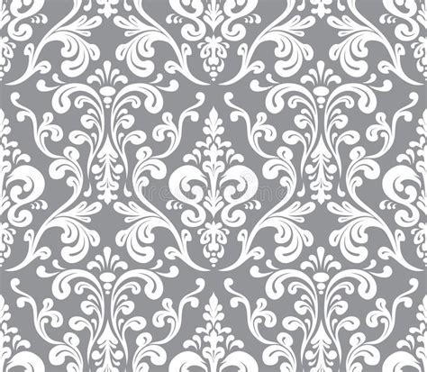 grey pattern illustrator vector seamless elegant damask pattern stock