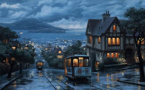 city background drawing san fransisco city wallpaper oldies tramway view on